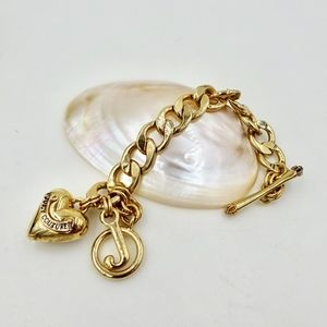 JUICY COUTURE GOLD CHUNKY CHARM BRACELET
